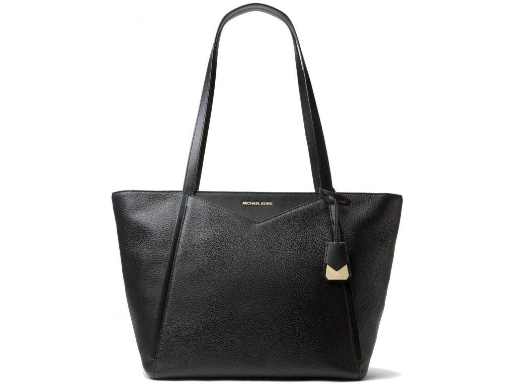 Michael Kors Whitney Large Leather Tote Bag Blacka
