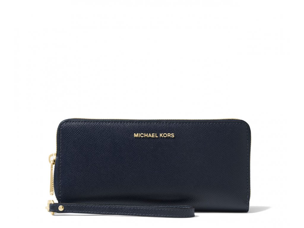 Leather Continental Wristlet Admiral