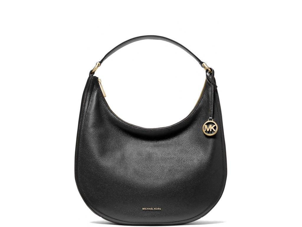 Michael Kors Lydia Large Pebbled Leather Shoulder Bag Black