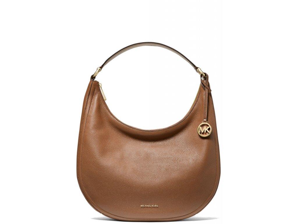 Michael Kors Lydia Large Pebbled Leather Shoulder Bag Luggage