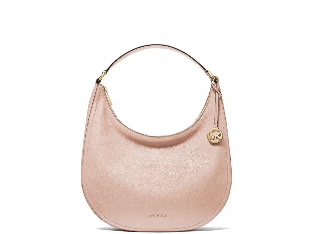 Michael Kors Lydia Large Pebbled Leather Shoulder Bag Soft Pink