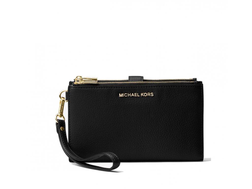 Michael Kors Adele Leather Smartphone Wristlet Black