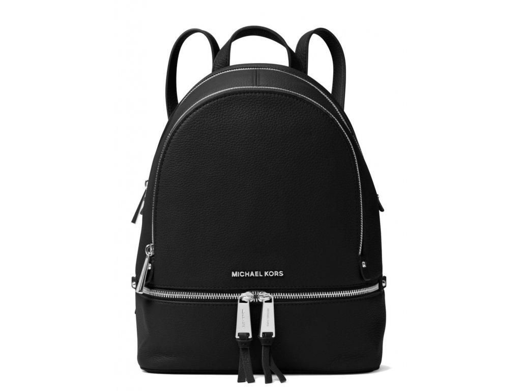 186 michael kors rhea medium leather backpack black