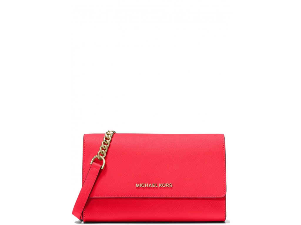 Michael Kors Saffiano Leather 3 in 1 Crossbody Coral