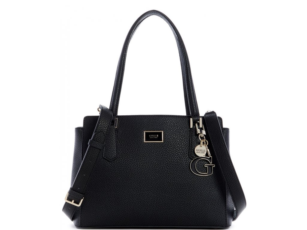 Guess Alessi Luxury Satchel Black Pale Gold