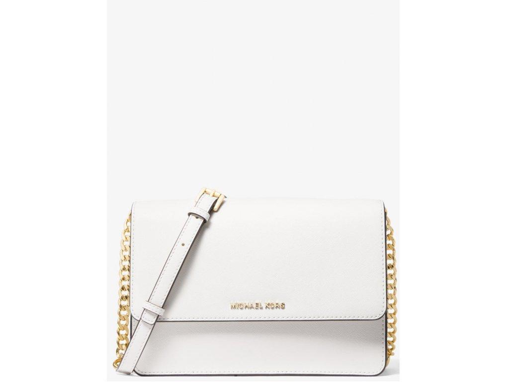 Micheal Kors Daniela Large Saffiano Leather Crossbody Bag Optic White