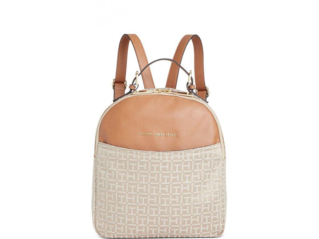 Tommy Hilfiger Hazel Jacquard Dome Backpack Khaki Tonal