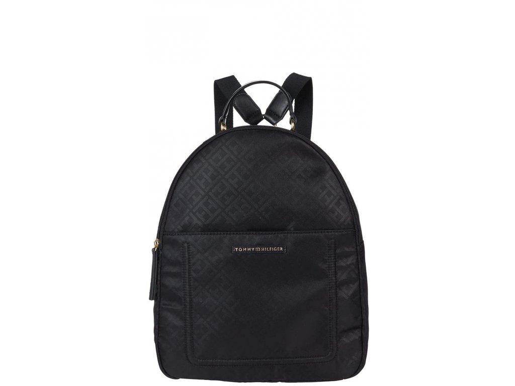 Tommy Hilfiger Linda II Medium Backpack Logo NylonBlack