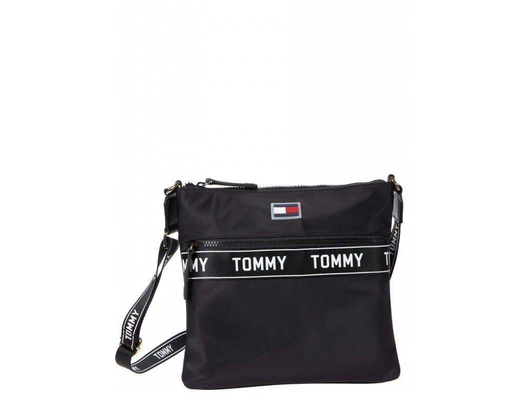 Tommy Hilfiger Allie Crossbody Taping Smooth Nylon Black