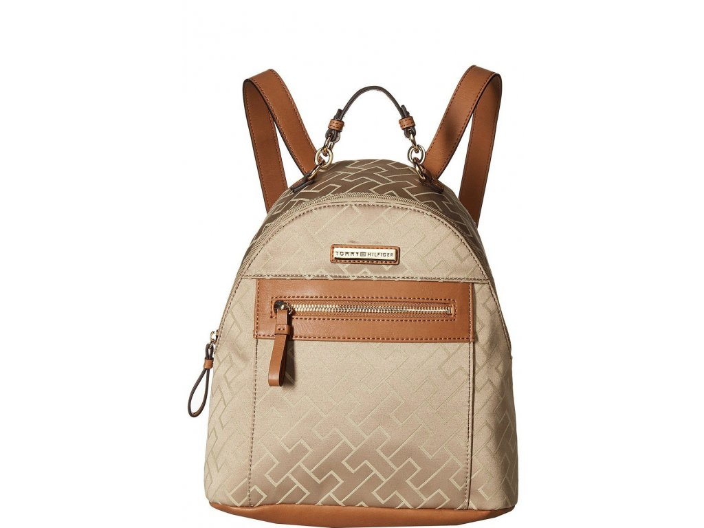 Tommy Hilfiger Claudia Dome Backpack Khaki Tonalfront