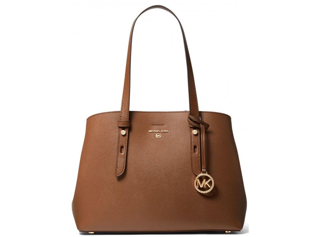 Michael Kors Mel Medium Saffiano Leather Tote Bag Luggage