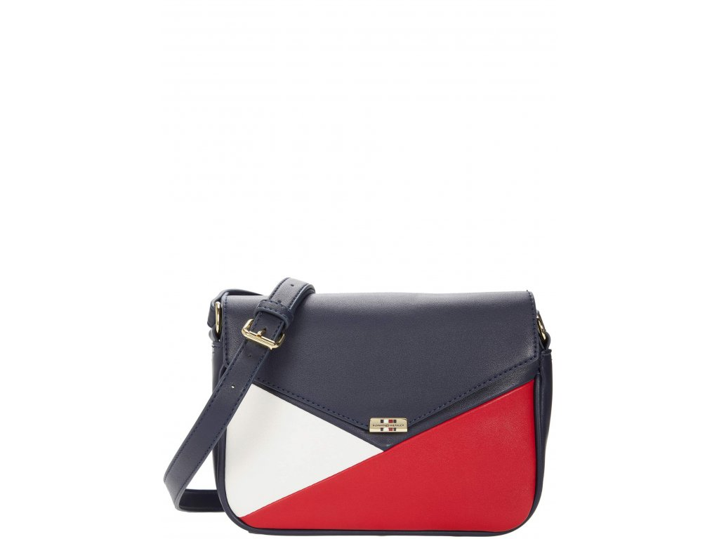 Tommy Hilfiger Tessa Crossbody Color Block Navy Red White