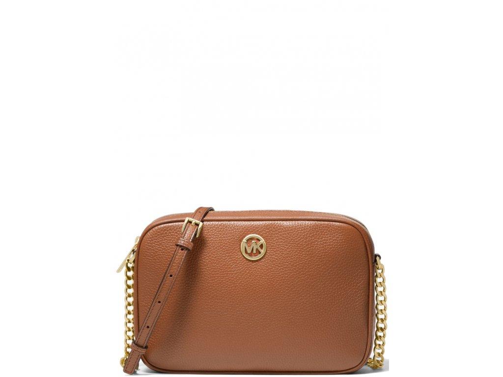 Michael Kors Fulton Large Pebbled Leather Crossbody Bag Luggage