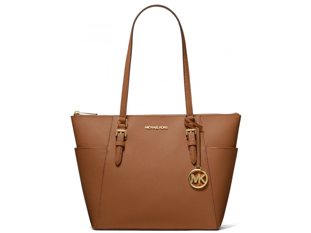 Michael Kors Charlotte Large Saffiano Leather Top Zip Tote Bag Luggagea