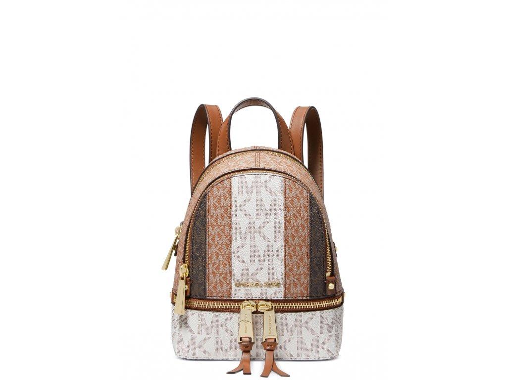 Michael Kors Rhea Zip Extra Small Messenger Backpack Luggage Multia