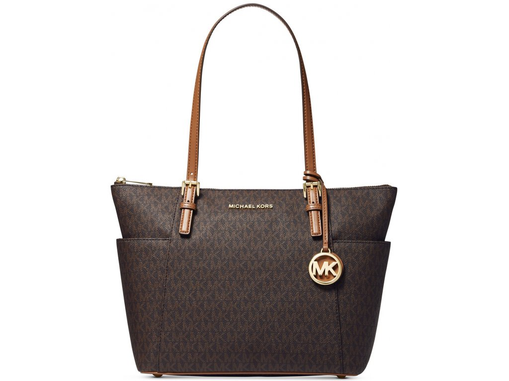 Jet Set East West Top Zip Leather Tote