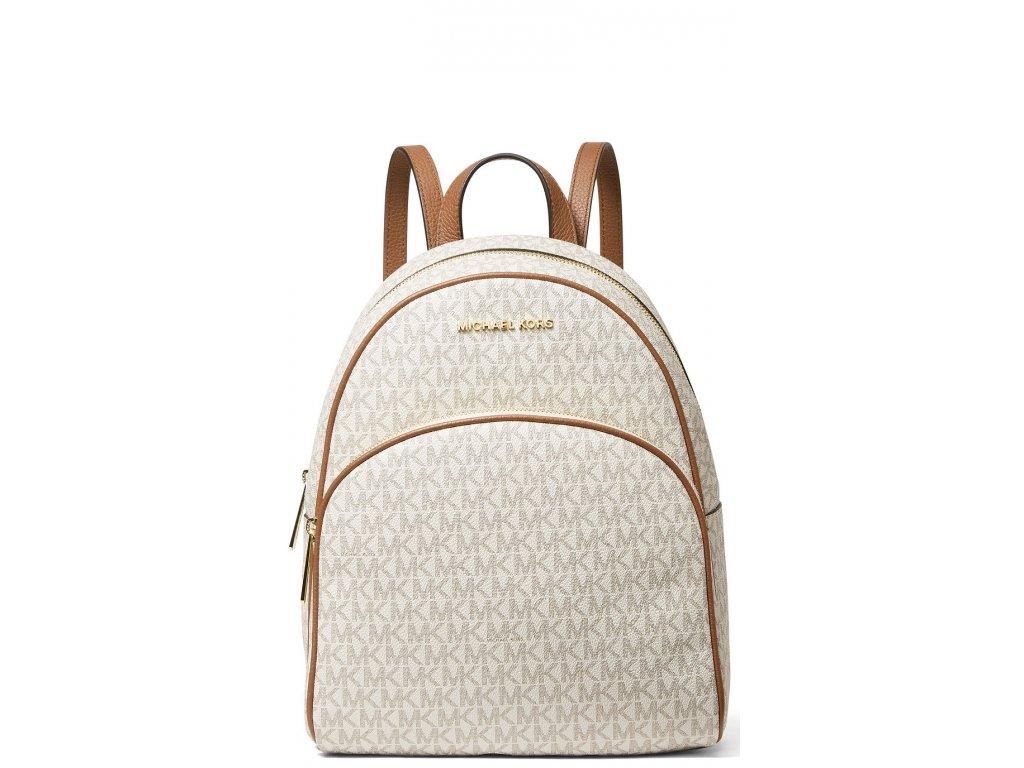 Michael Kors Abbey Medium Logo Backpack Vanilla Acorn