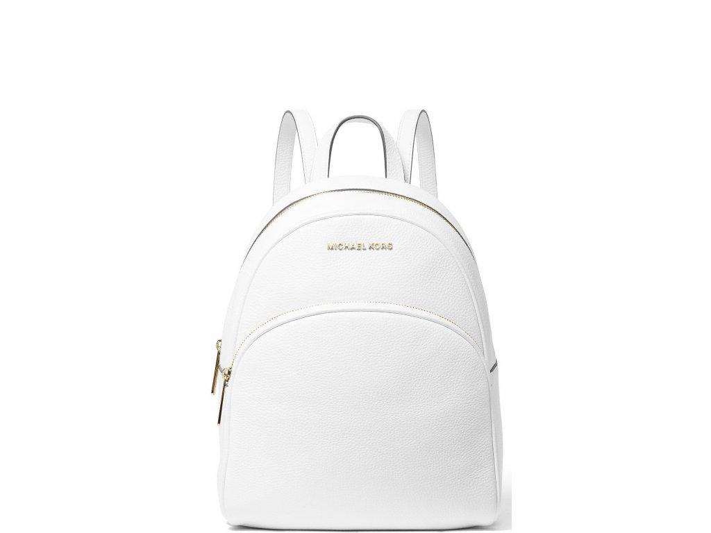 Michael Kors Abbey Medium Pebbled Leather Backpack Optic Whitefront