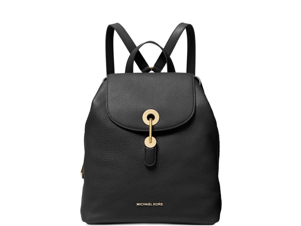 Raven Leather Backpack Black