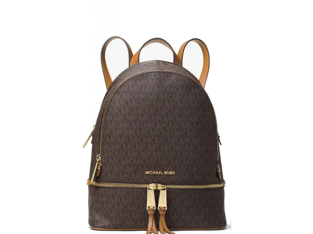 Michael Kors Batoh Rhea Medium Backpack Brown