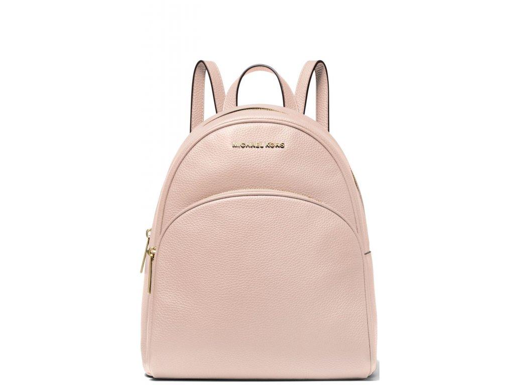 Michael Kors Batoh Rhea Medium Leather Backpack Soft Pink