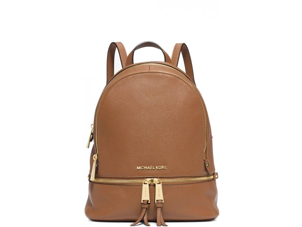 Michael Kors Batoh Rhea Medium Pebble Leather Backpack Acorn