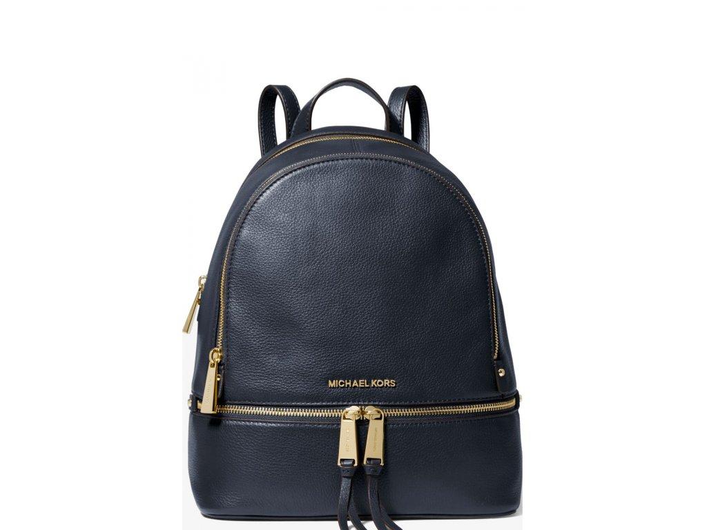 Michael Kors Batoh Rhea Medium Pebble Leather Backpack Admiral