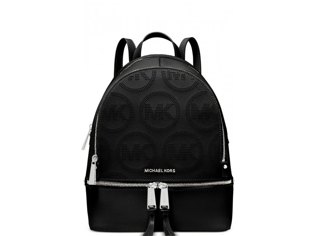 Michael Kors Rhea Zip Small Backpack Leather Black