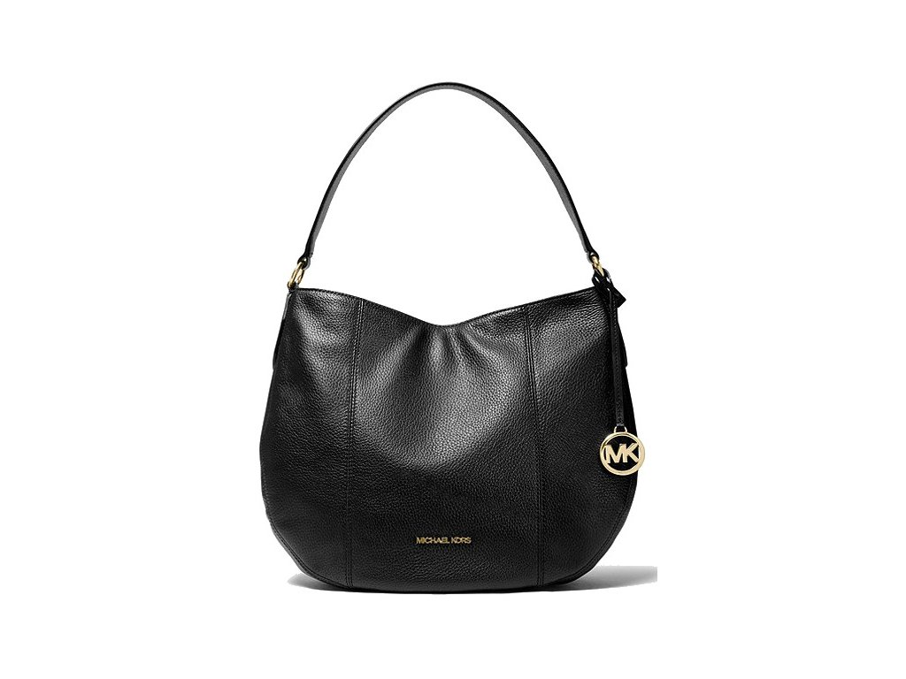 Michael Kors Kabelka Brooke Large Pebbled Leather Shoulder Bag Black