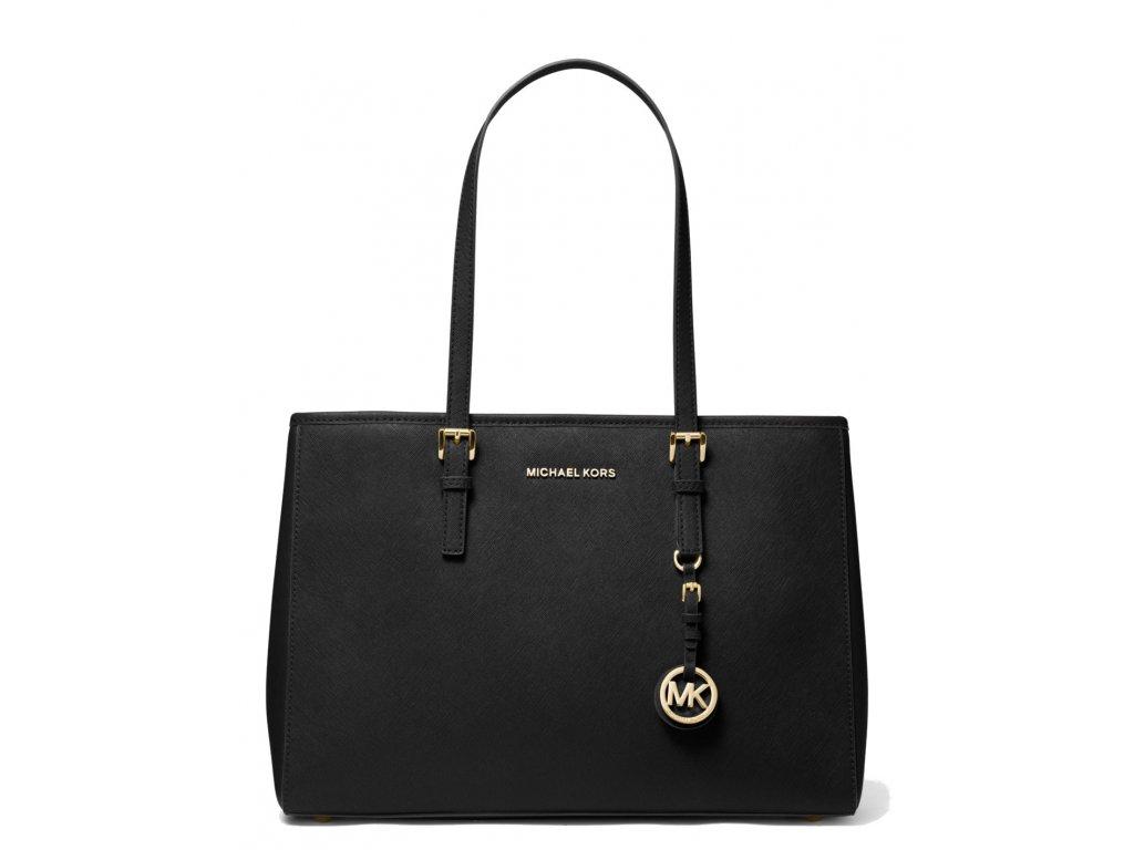 Michael Kors Jet Set Saffiano Leather Tote Bag Black