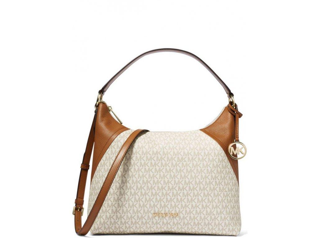 Aria Signature Shoulder Bag Vanilla Acorn Gold