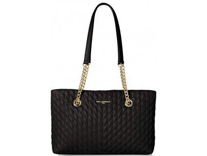 Karl Lagerfeld Paris Karolina Chain Tote Black Gold