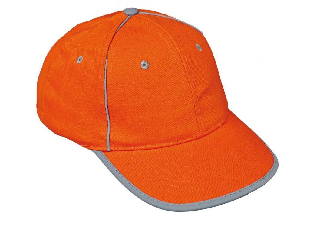 28bf818370d Baseballová čepice s reflexními prvky-ORANŽOVÁ - AB reflex