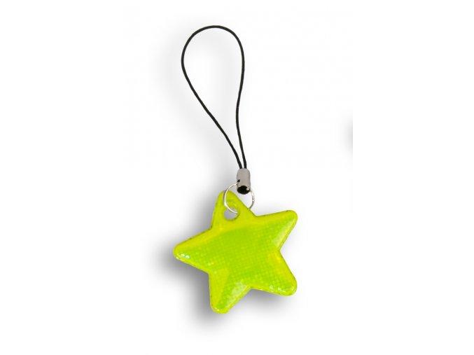 Reflexní hvězdičky - ŽLUTÁ