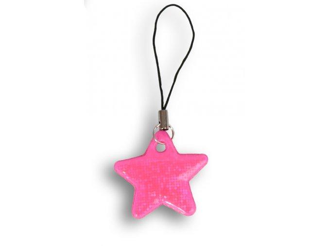 Reflexní hvězdičky - RŮŽOVÁ