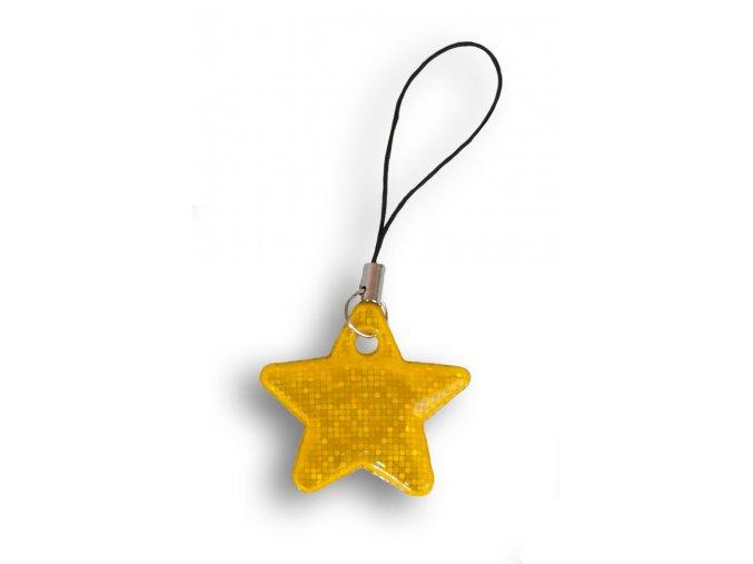 Reflexní hvězdičky - ZLATÁ