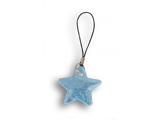 Reflexní hvězdičky - MODRÁ