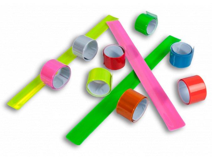 Reflexní samonavíjecí pásky - SVĚTLE ČERVENÁ