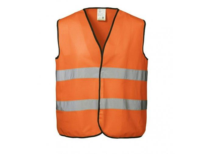 Reflexní bezpečnostní vesta oranžová - XXL