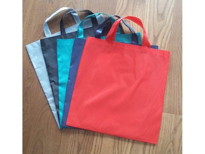 Šusťáková nákupní taška - ČERNÁ