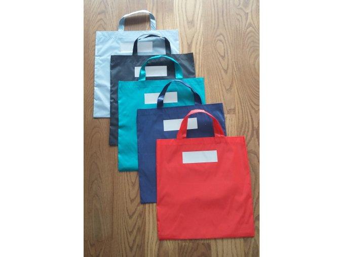 Šusťáková nákupní taška s reflexním pruhem