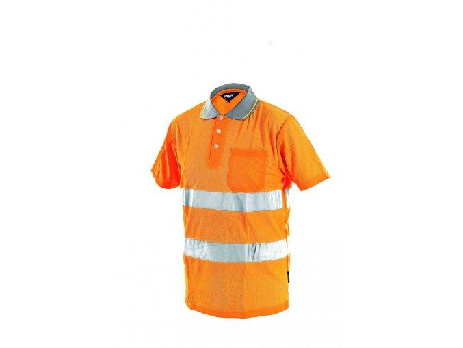 Výstražná polokošile s reflexními pruhy, oranžová vel. XL