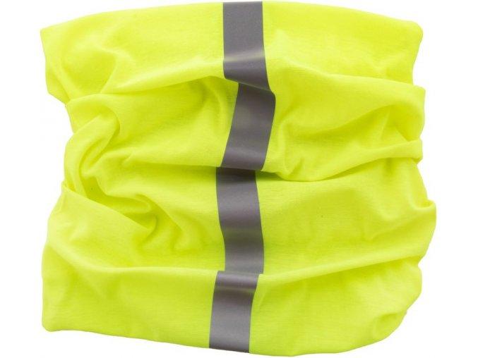 Reflexní univerzální šátek-žlutý