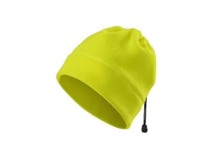 Fleecová reflexní čepice-žlutá