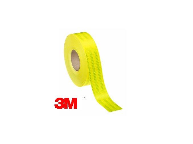 Reflexní 3M diamond grade samolepící páska - fluorescenční žlutá
