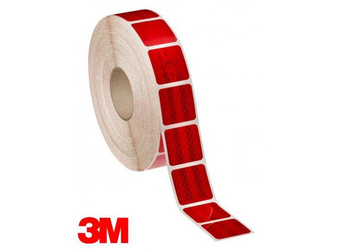 Reflexní 3M diamond grade dělená samolepící páska - ČERVENÁ