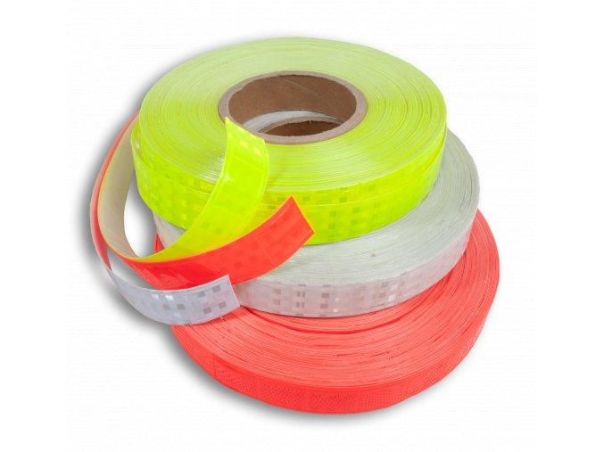 Reflexní samolepící páska - světle červená