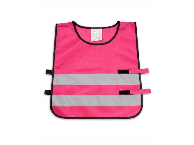 Dětská reflexní vesta - růžová 42x45cm