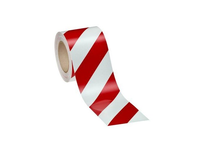 Reflexní 3M páska červeno-bílé šrafování
