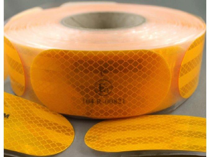 Reflexní 3M diamond grade dělená samolepící páska - ŽLUTÁ